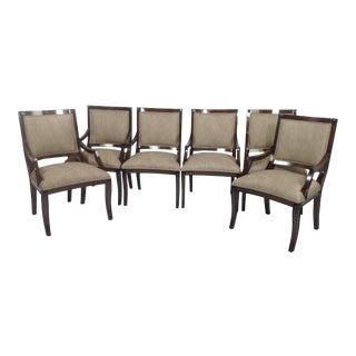 Modern Chenille Dining Chairs - Set of 6
