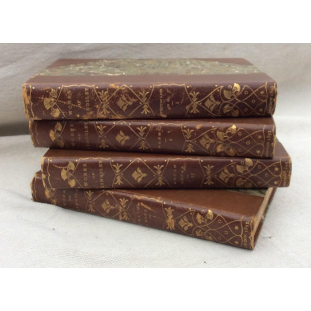 Kingsley Brown Leather Books - Set of 4 - Image 6 of 6