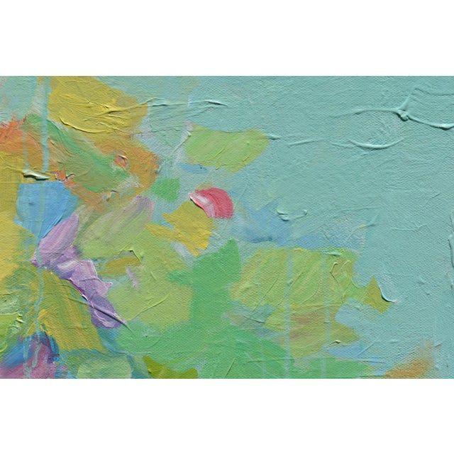 """Blue Modern """"Bouquet- Out of Many, One"""" Abstract Painting by Stephen Remick For Sale - Image 8 of 13"""