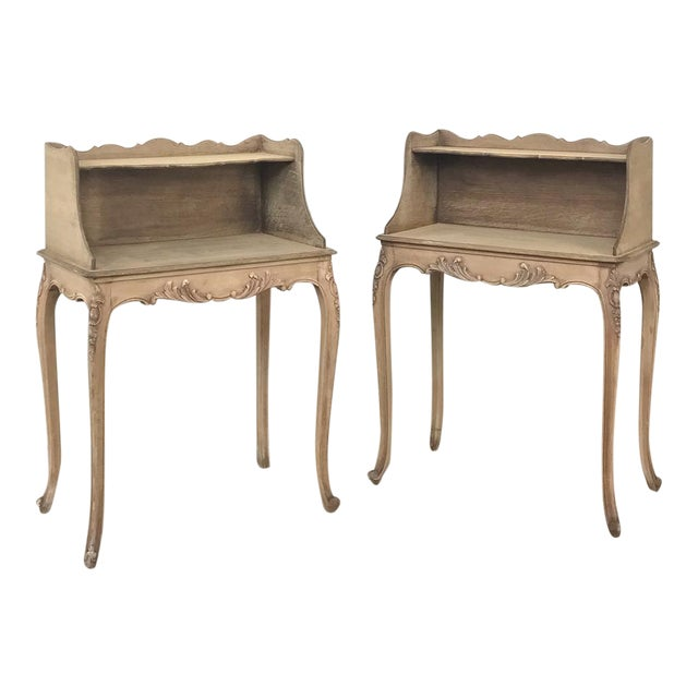 Pair Country French Provincial Nightstands For Sale