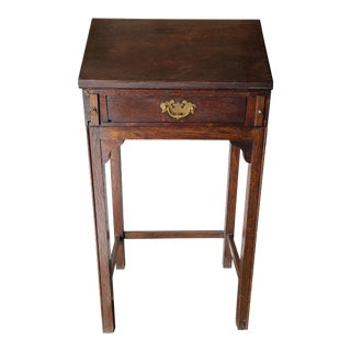 English Oak Writing Desk With Drawer For Sale