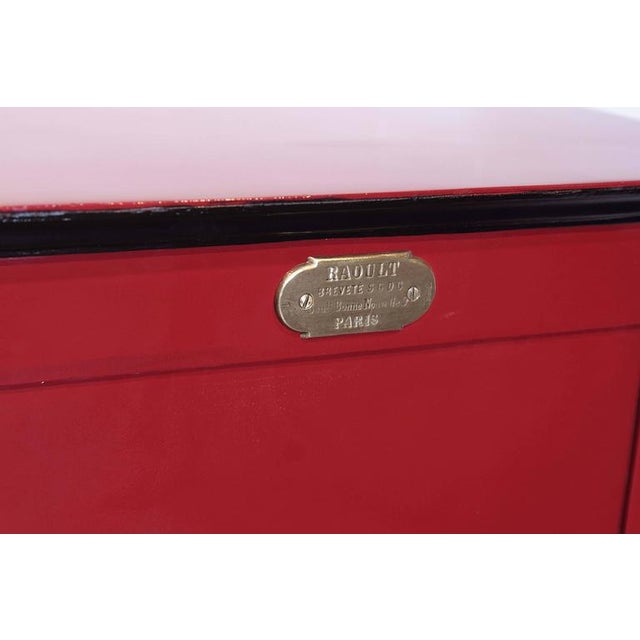 19th Century Parisian Iron Safe Box with Keys & Combination - Image 3 of 10
