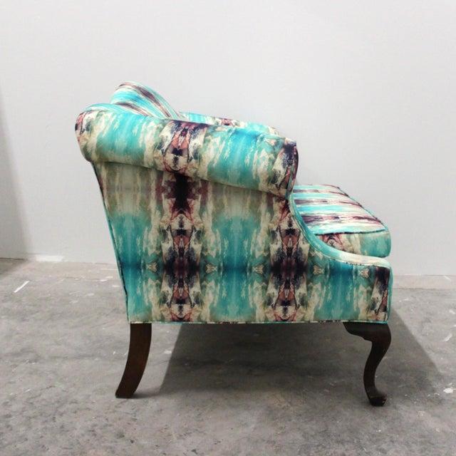 Boho Chic Modern Custom Upholstered Boho Chic Love Seat For Sale - Image 3 of 8