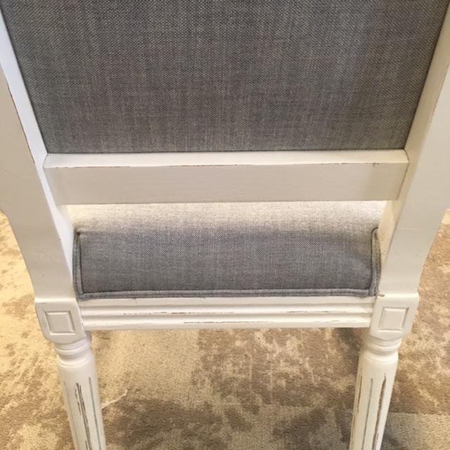 Linen Restoration Hardware French Dining Chairs - Set of 5 For Sale - Image 7 of 8
