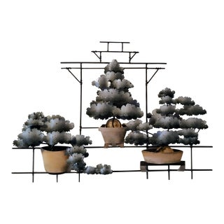 Contemporary Bonsai Garden Tole Wall Art