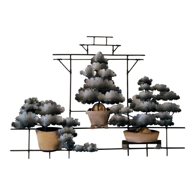 Contemporary Bonsai Garden Tole Wall Art For Sale