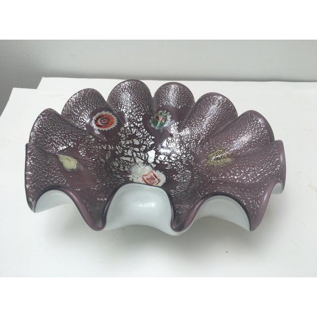 Italian Art Glass Low Bowl - Image 5 of 6