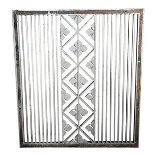"Traditional Salvaged Cast Iron Wall Vent Cover - 47x35"" For Sale"