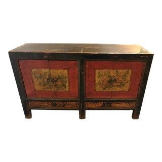 Vintage Rustic Oak Sideboard For Sale