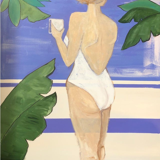 Lauren Jane Lounging Lady Contemporary Painting For Sale