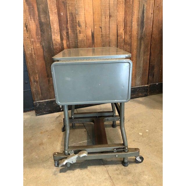 Metal Vintage Typewriter Desk For Sale - Image 7 of 10