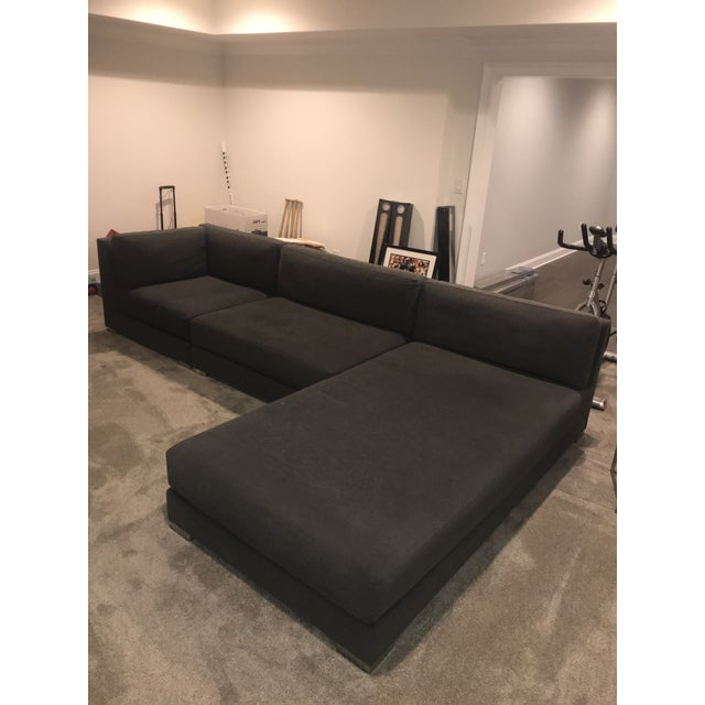 Metal Donghia Sectional Sofa For Sale - Image 7 of 9