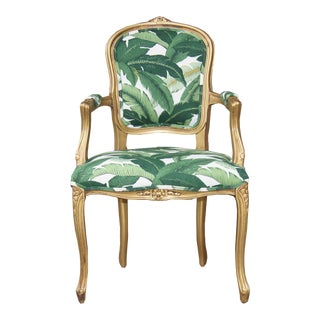 French Louis XV Green Chair For Sale