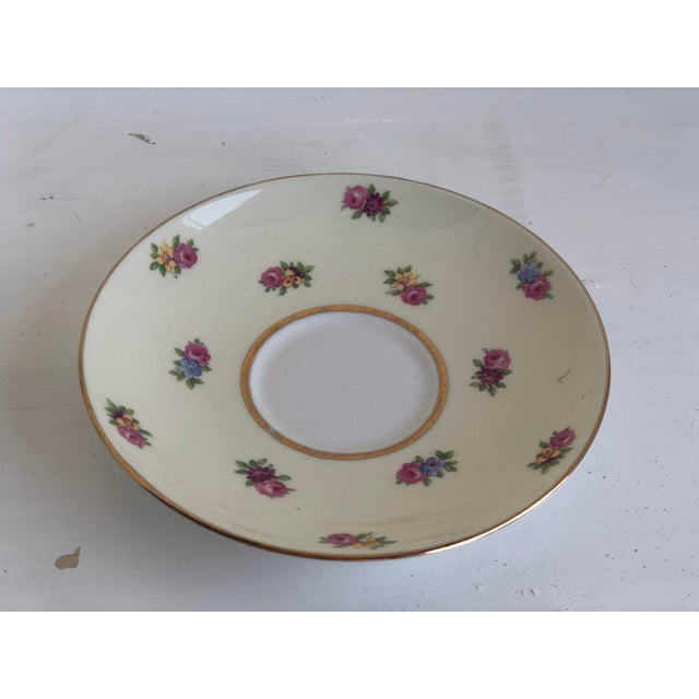 Colclough Creamer, Tea Cup and Saucer Set For Sale - Image 9 of 12