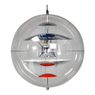 Large Spherical Suspension Lamp by Verner Panton for Louis Poulsen, 1969 For Sale
