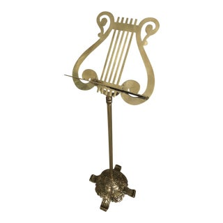 Decorative Brass Music Stand For Sale