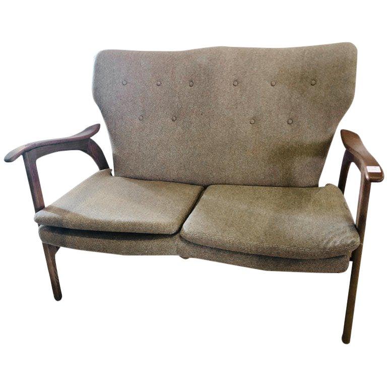 A Mid Century Modern Settee Sofa or Loveseat | Chairish