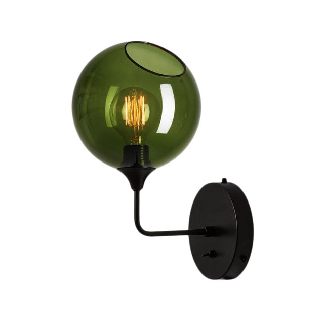 Ballroom The Wall Short Sconce - Green For Sale