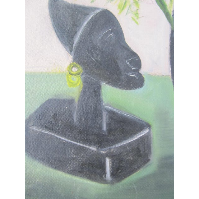 Mid-Century Still Life Painting With Flowers - Image 8 of 8
