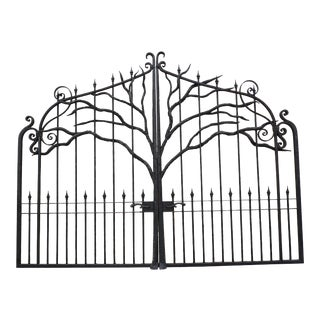 Large Iron Entry Gate For Sale