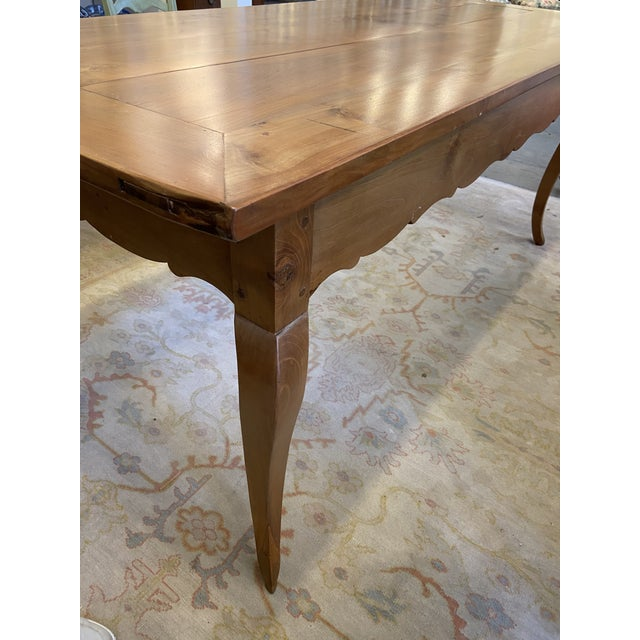 French Country Antique French Country Handmade Cherry Farm Dining Table For Sale - Image 3 of 8