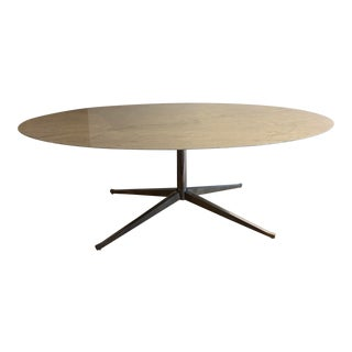 Mid-Century Modern Florence Knoll Oval Conference Table For Sale