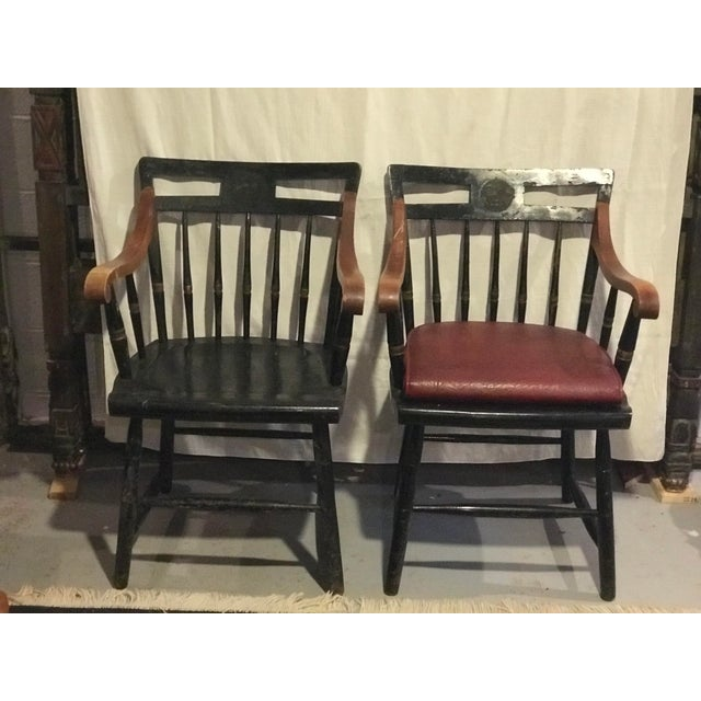 Early 20th Century Nichols & Stone Windsor Chairs- A Pair For Sale - Image 9 of 9