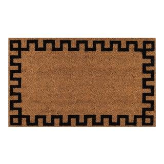 Modern Erin Gates by Momeni Park Greek Key Natural Hand Woven Natural Coir Doormat- 1′6″ × 2′6″