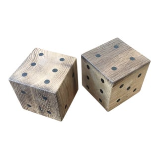 Ozshop Antique Oak Oversized Dice Sets For Sale