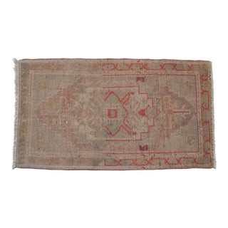 Yastik Rug Distressed Low Pile Petite Rug Faded Mat - 20'' X 35''