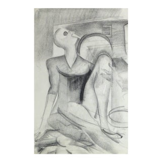 Abstract Pencil Figure For Sale