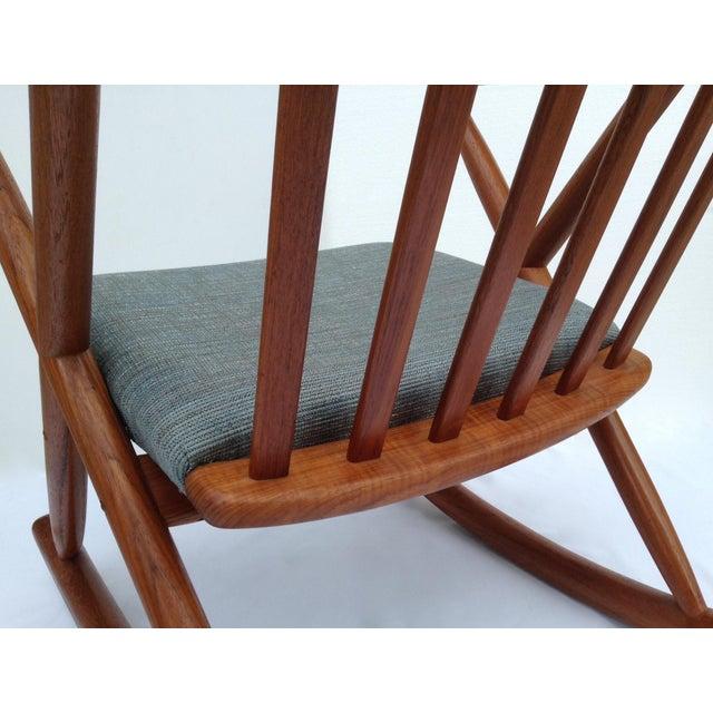 Benny Linden Danish Mid-Century Teak Rocking Chair For Sale - Image 9 of 11