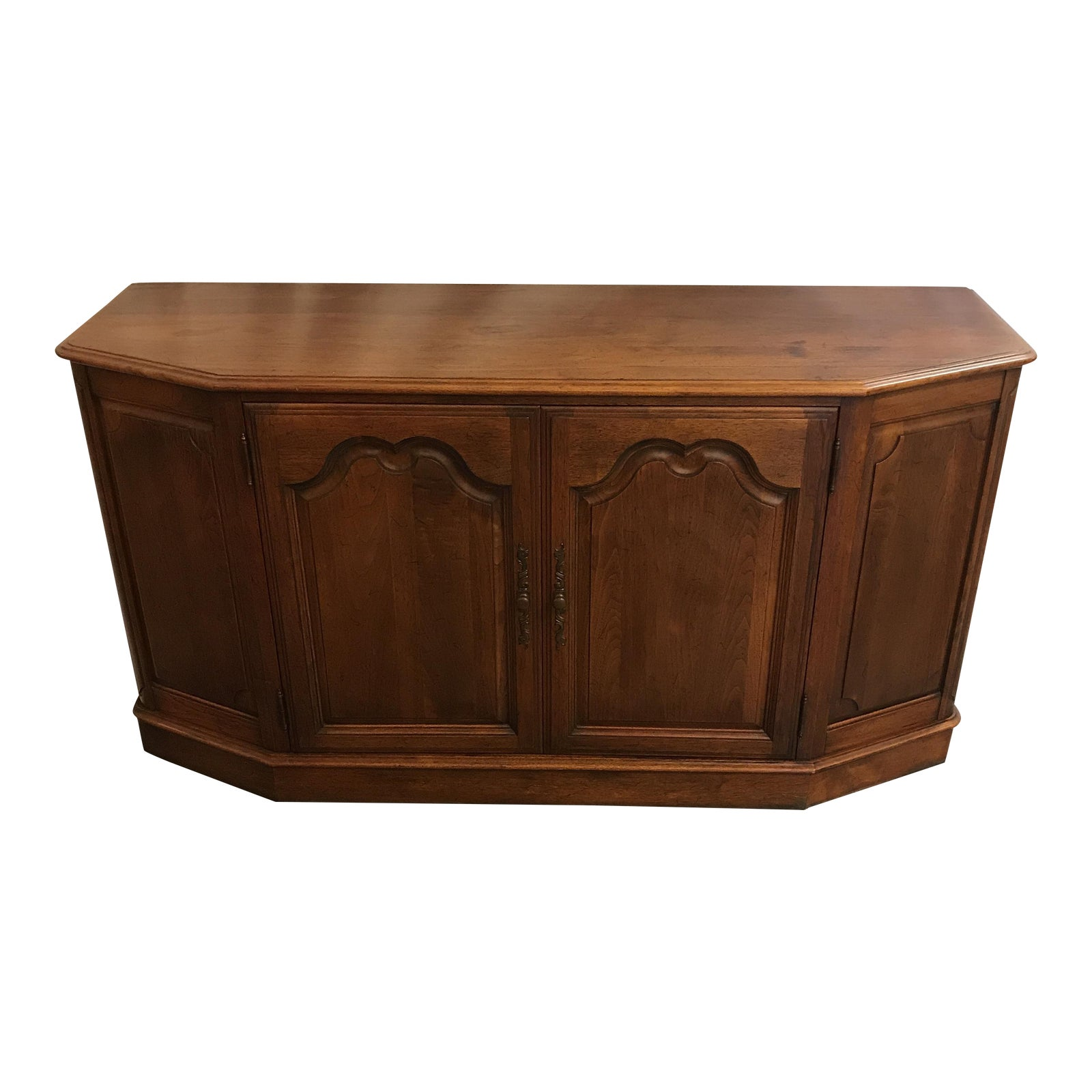 Vintage French Provincial Walnut Buffet Chairish