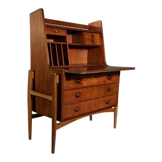 Poul Volther Teak Floating Frame Secretary, Denmark 1960s For Sale