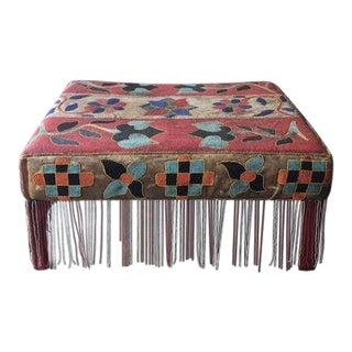 Antique African Yoruba Beaded Ottoman/Coffee Table