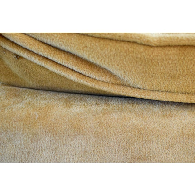 """Vintage Mid Century Tan Mohair """"X"""" Benches- A Pair For Sale - Image 4 of 12"""