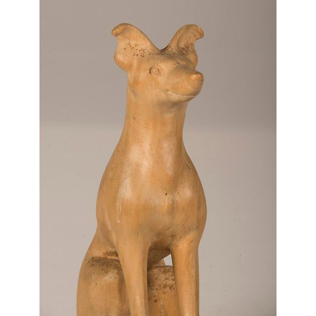 19th Century English Hand Made Carved Wood Dog Sculpture For Sale In Houston - Image 6 of 6