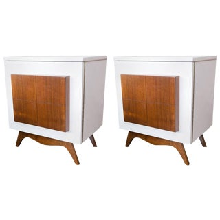 Mid-Century Modern Lacquered Nightstands - a Pair
