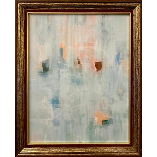 Original Abstract Medley of Pastels Framed Painting For Sale