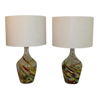 Abstract Murano Table Lamps For Sale