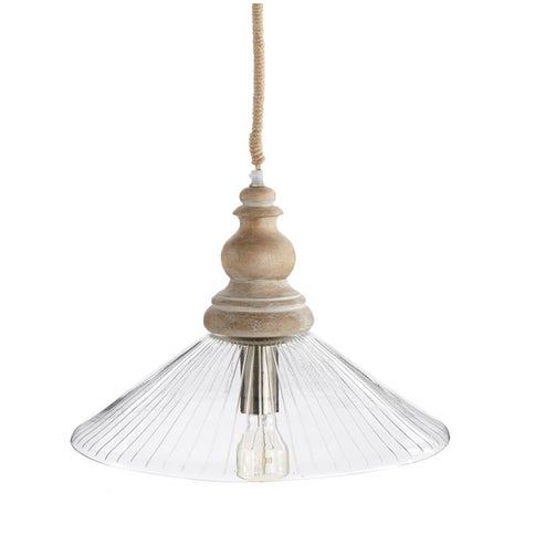 Sophia Glass Pendant Lamp With Rope by Napa Home For Sale - Image 12 of 12