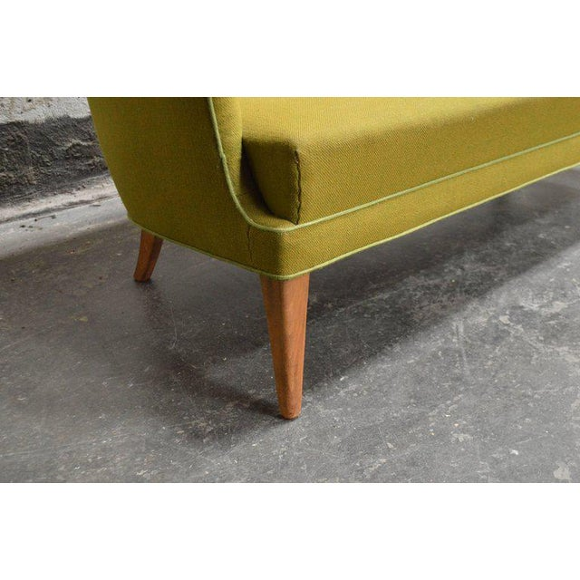 Mid-Century Scandinavian Modern Green Tweed Sofa in the Style of Carl Malmsten For Sale - Image 4 of 6