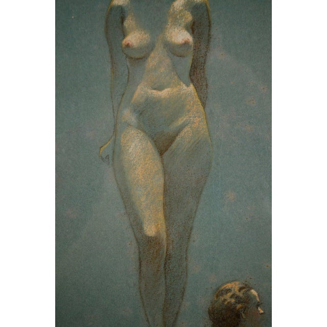 Figurative Original Nude Figures Pastel Drawing on Paper by Victor Coleman Anderson For Sale - Image 3 of 11