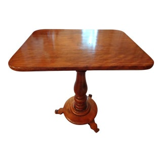 19th C. French Louis Philippe Cherry Wood Pedestal Table