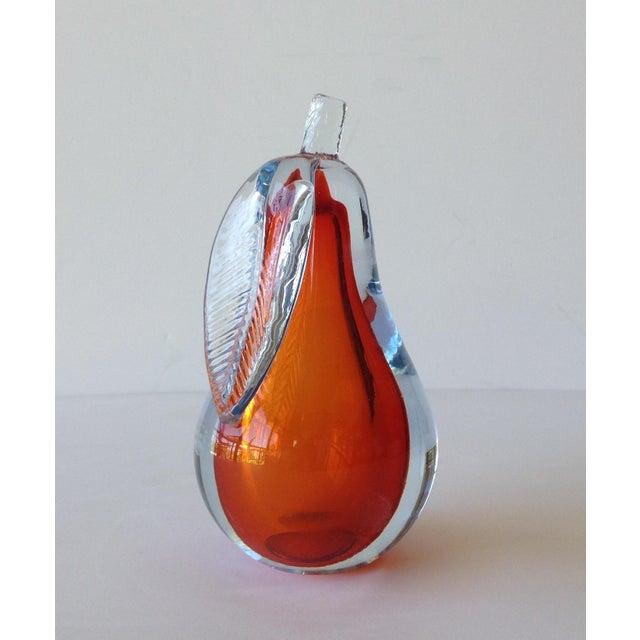 Alfredo Barbini Hand-Blown Murano Pear Bookend - Image 3 of 10