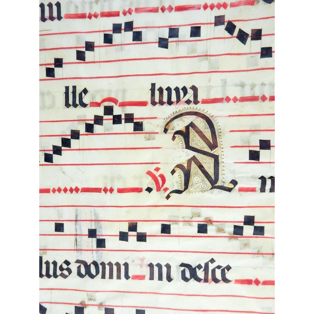 16th C. Illuminated Music Manuscript For Sale - Image 4 of 5