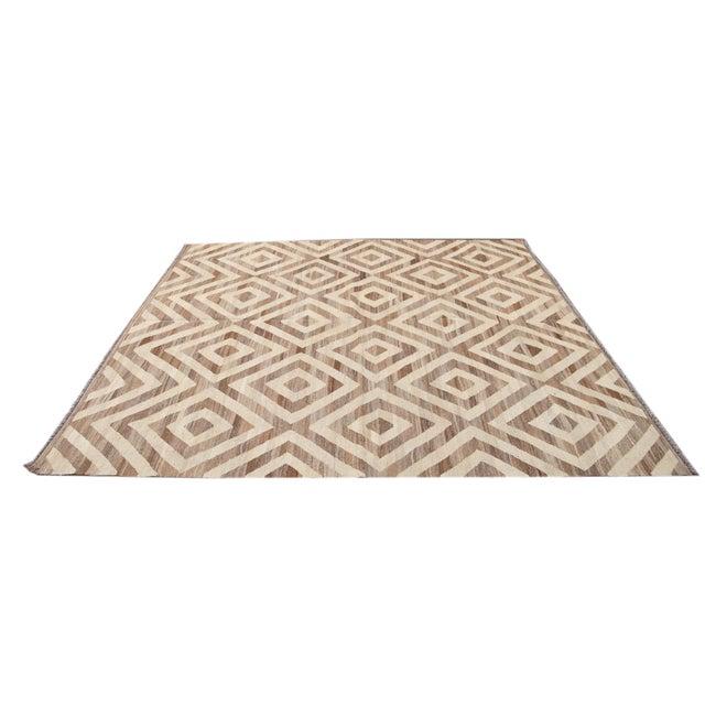 21st Century Modern Kilim Wool Rug For Sale - Image 11 of 12
