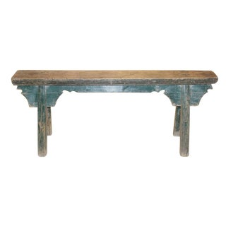 1920s Vintage Green Kung Fu Bench For Sale