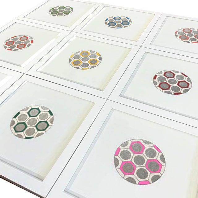 Boho Chic Minimalist Geometric Ink Drawings by Natasha Mistry- Set of 9 For Sale - Image 3 of 9