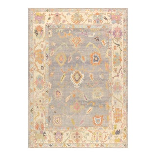 Contemporary Pasargad Home Oushak Wool Area Rug - 10′2″ × 14′2″ For Sale